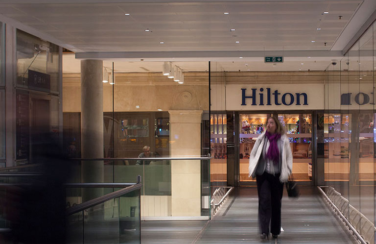 Hilton Hotel Mezzanine Entrance, Paddington Lawn
